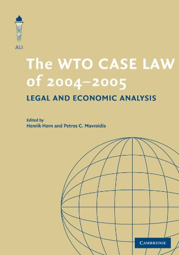 the-wto-case-law-of-2004-5-the-american-law-institute-reporters-studies-on-wto-law