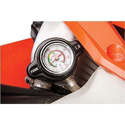 Tusk High Pressure Radiator Cap with Temperature Gauge 1.8 Bar - Fits: Polaris SCRAMBLER 400 2x4 2001-2002: Automotive
