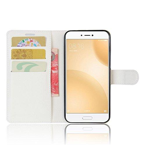 Funda Xiaomi Mi 5C,Manyip Caja del teléfono del cuero,Protector de Pantalla de Slim Case Estilo Billetera con Ranuras para Tarjetas, Soporte Plegable, Cierre Magnético C