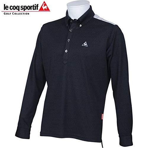 ルコックスポルティフ LE COQ SPORTIF ゴルフ メンズ 長袖ボタンダウンシャツ QG1075 N151 ブラック サイズ M