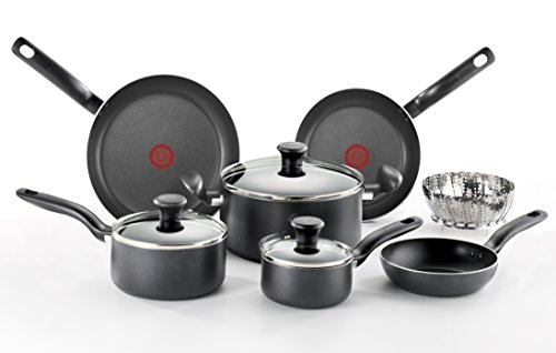 T-Fal Initiatives 10-piece Cookware Set, Model A821SA94, Gre