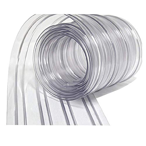 Resilia - Plastic Vinyl Strip Curtain for Walk In Freezers, Coolers & Warehouse Doors - Clear, 80 mil Thick, 8 Inch x 150 Foot Roll ()
