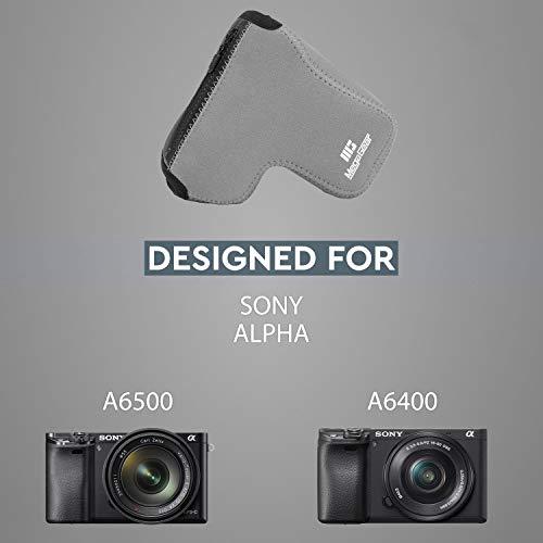 MegaGear MG1500 Sony Alpha A6400, A6500 (18-135mm) Ultra Light Neoprene Camera Case - Gray