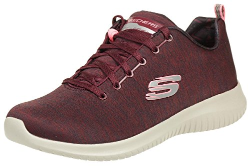 Bordeaux Ultra Skechers Femme First Flex Formateurs Choice S8zg8