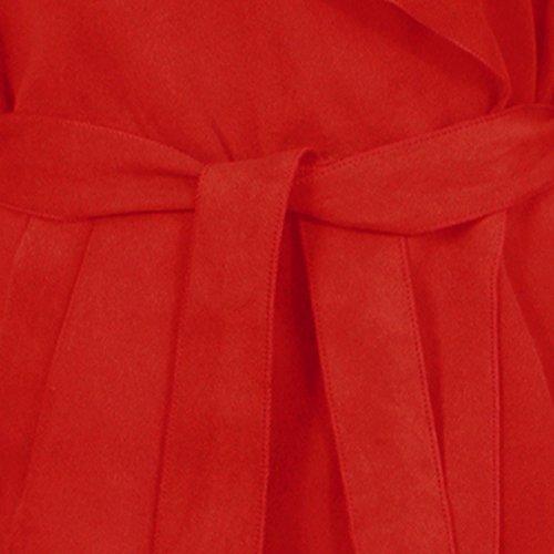 Rouge Clothing Femme Manche Manteau Karma Sans SYnwFTn7x