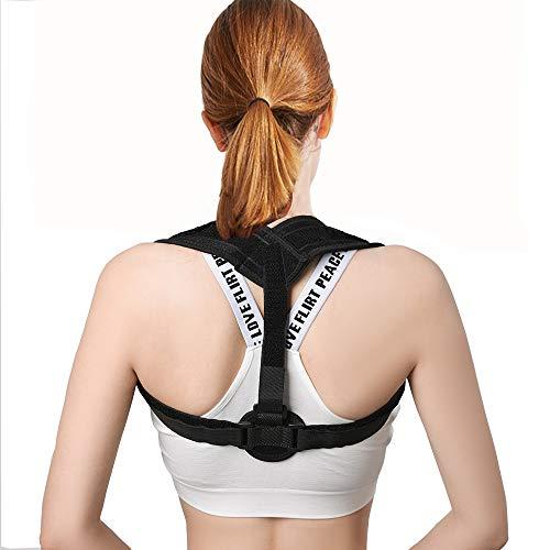 Back Brace Posture Corrector for Women & Men - Fully Adjustable Support Belt Improves Posture and Upper Back Pain Relief Upright Go Posture (type3)