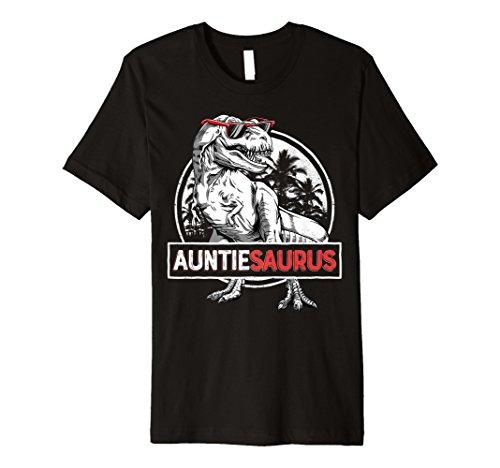 Auntiesaurus T shirt T rex Auntie Saurus Dinosaur Women Aunt