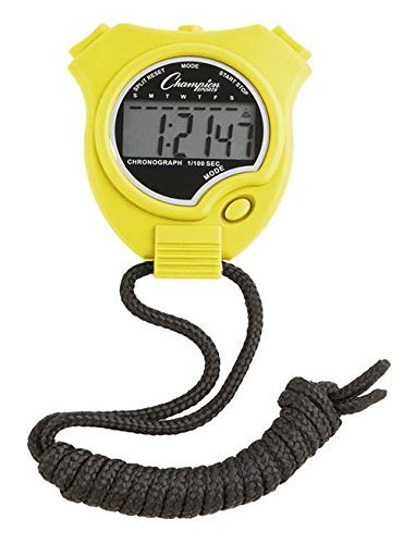 Stop Watch in Neon Yellow