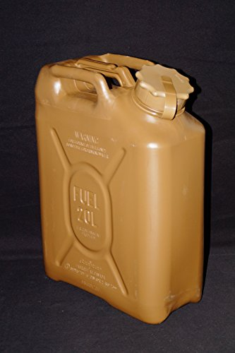 Scepter 05552 US Military Fuel Can, 5Gal/20L, Olive Drab with Red Strap
