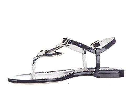en mujer sandalias piel blu Dolce nuevo amp;Gabbana 57twnqE