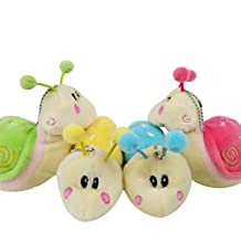 Cute Snails Plush Toys Warm Stuffed Animals Bag Hangers Keychains Kids Lovers Keychain Toys,Great Birthday Shower Gift Valentine Christmas Gifts Kids Loved(1pc)