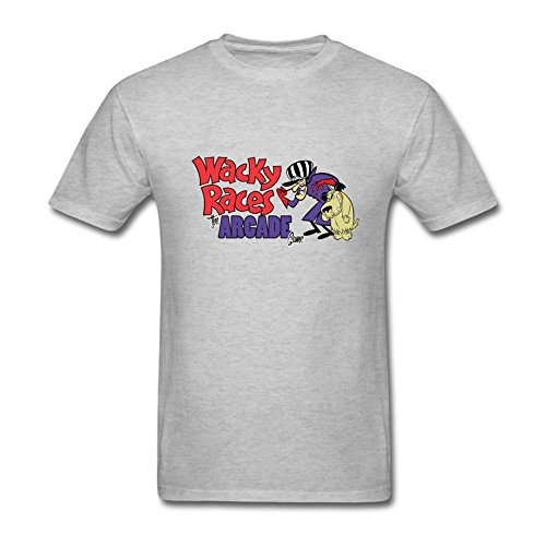 SLJD Men's Wacky Races Cartoon Design T Shirt