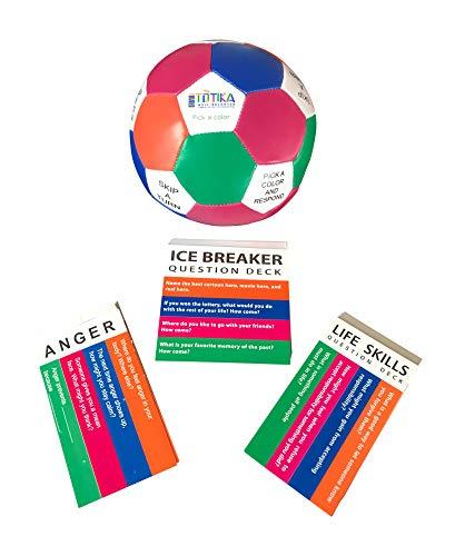 Totika Icebreaker, Anger, Life Skills Cards and Thumball