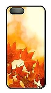 iPhone 5 5S Case Nature Maple PC Custom iPhone 5 5S Case Cover Black