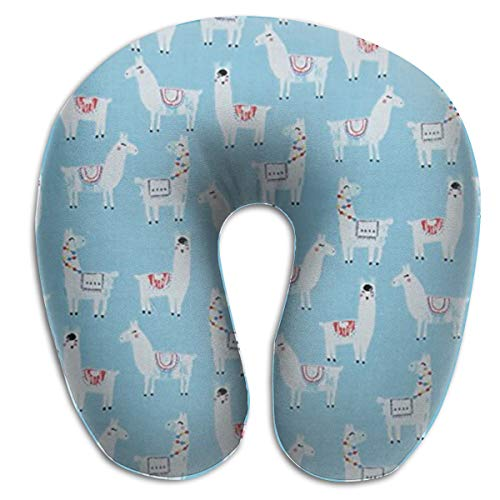 Topaz Neck - MenZhon Drama Llama Heard Topaz Comfortable U-Shape Pillows Travel Neck Pillow,Stops The Head from Falling Forward- Comfortably Supports The Head, Neck and Chin in Any Sitting Position