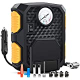 Nilight 50028R Black/Yellow 12V DC 150 PSI Air Compressor Pump Portable Digital Auto Tire Car, Truck, Bicycle, RV and Other Inflatables, 2 Years Warranty