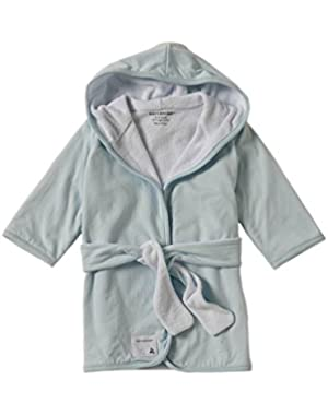 Organic Knit Terry Hooded Infant Robe, Sky