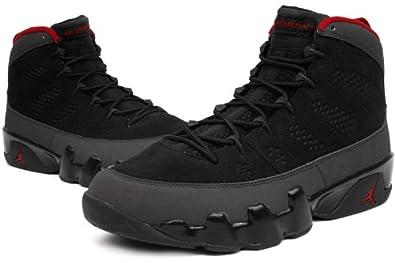 new concept 63729 4dbcc Amazon.com   Jordan Nike Air 9 Retro IX Black Red Grey Mens Basketball Shoes  302370-005   Basketball