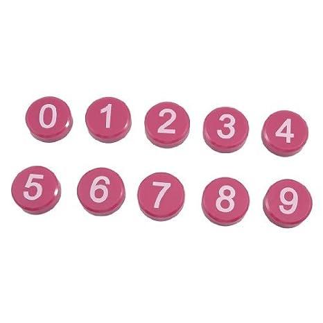 Amazon.com: eDealMax De mesa Redonda 0-9 Números Sticker ...