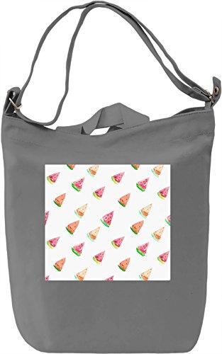 Watermelon Print Borsa Giornaliera Canvas Canvas Day Bag| 100% Premium Cotton Canvas| DTG Printing|