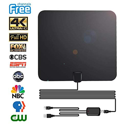 - TV Antenna Digital Antenna for HDTV Indoor 60miles Range with Detachable Amplifier Signal Booster High Reception Clearview TV Antenna with High Performance Coax Cable for 4K 1080P Free Local Channels