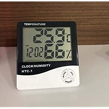 HTC-1 - BFHTC-1Humidity Time Display Meter with Alarm Clock, Wall Mount or Table Top, Multicolour 8