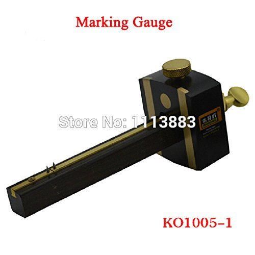 New 8inch/20cm Ebony Deluxe British Marking Gauge Wood Scribe Mortise Gauge With Brass Screw Woodworking Measuring Tool