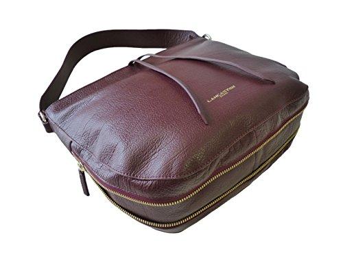 c97fb38b6b209 ... Lancaster Tasche Dune 529-22-Bordeaux Damen Leder Handtasche  Schultertasche Umhängetasche (29  ...