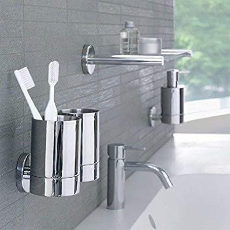 """Spirella WC B/ürste Klob/ürste Toilettenb/ürste /""""Akira/"""" mit hygienischem Beh/älter matt Taupe"""