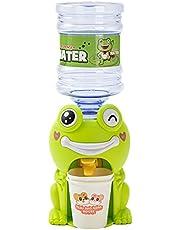 YUTEN Mini-waterdispenser Kid Cartoon dispenser met drinkemmer Frog Piggy speelhuis drankdispenser speelgoed afneembaar - levensmiddelmaterialen hoogte 23 cm expert
