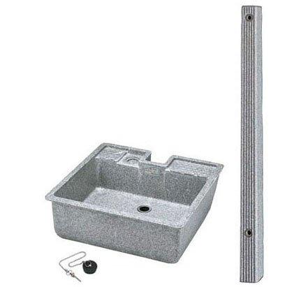 タキロンシーアイ レジコン製水栓柱 FVS-12+研ぎ出し流し(デラックスタイプ550-D型)セット B00CYA28IG