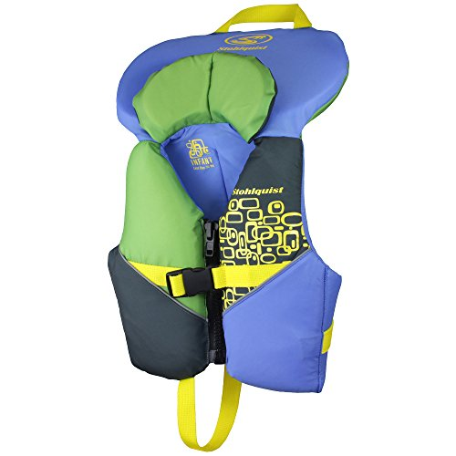 - Stohlquist Toddler Life Jacket Coast Guard Approved Life Vest for Infants-Blue/Green-Infant