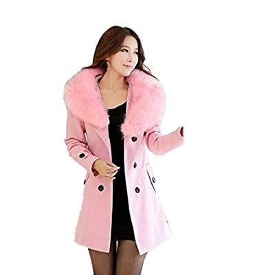 Partiss Women Double-Breasted Winter Coat