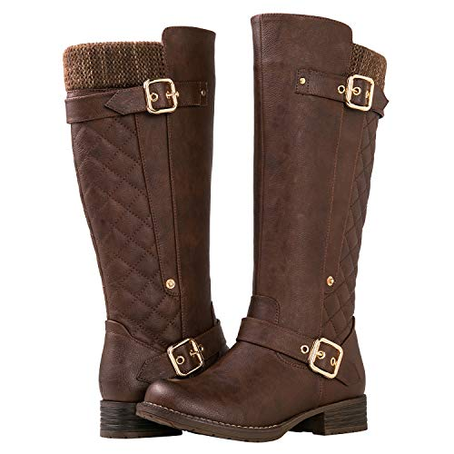 GLOBALWIN Women's 19YY01 Brown Fashion Boots 9M