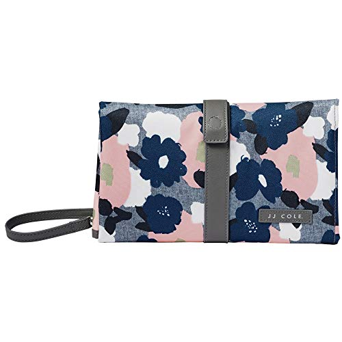 JJ Cole - Changing Clutch, Portable & Folding Cleaning Pad with Pocket for Baby Diapers & Wipes, Heather Floral