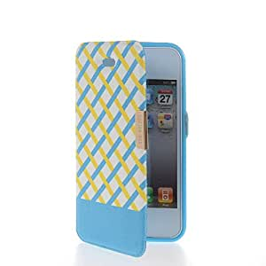 SHOPPINGBOX Flip Leather Slim Pouch Etui With TPU Case Cover For Apple iPhone 4 / 4S Blue