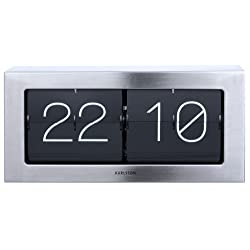 Karlsson Boxed Flip Clock (Steel)