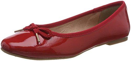 Tamaris 22123 - Ballerines - Femme Rouge (Chili Patent) J4CmkQNFhU
