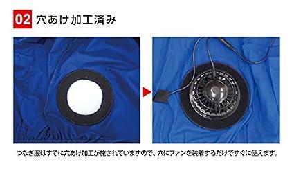 703d4fc0a73f07 Amazon|ブレイン(BRAIN) 綿100% 空調エアコン服つなぎ服タイプ フルセット ブルー L 空調エアコン服 BR-255|ブレイン( BRAIN) - ファッション雑貨 通販