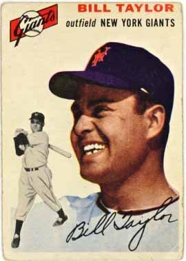 1954 New York Giants Baseball (Bill Taylor - New York Giants (1954 Topps Baseball Card) #74)