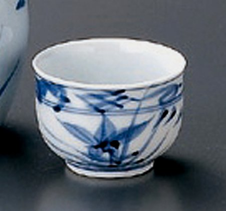 KIKYOU Jiki Japanese Porcelain Set of 2 Sake Cups watou.asia