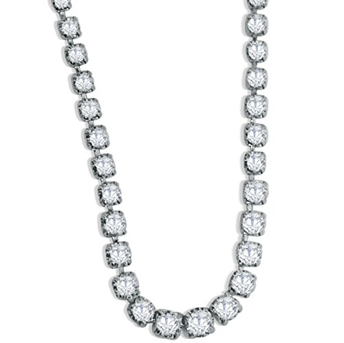 3.00ctw Diamond Tennis Necklace in Platinum P850 For Her 16.5 Inch Long (SI2/i1, h/i)