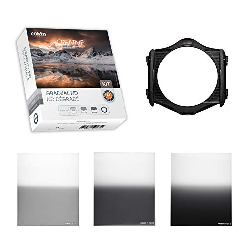 Cokin Square Filter Gradual ND Creative Kit Plus - Includes M (P) Series Filter Holder, Gnd 1-Stop (121L), Gnd 2-Stop (121M), Gnd 3-Stop Soft (121S) (Cokin Nd Filter P)