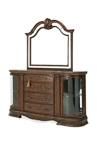 (Michael Amini Bella Veneto Sideboard Mirror, Cognac)