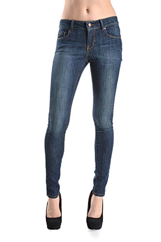 Stretch Skinny Jean With 5 Pockets -7 Dark Stone ()