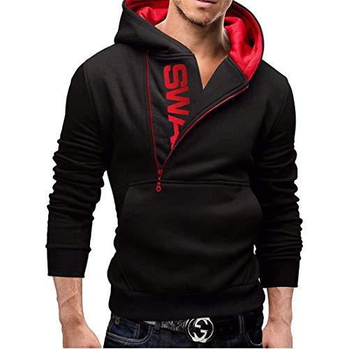 Hiver Manches Sweater Essentiel À Couleur Niveau Collision Automne D'écriture Sport Hommes Kit Longues Et Red Hoodie Black Zip Tête Pull zY1qdwz