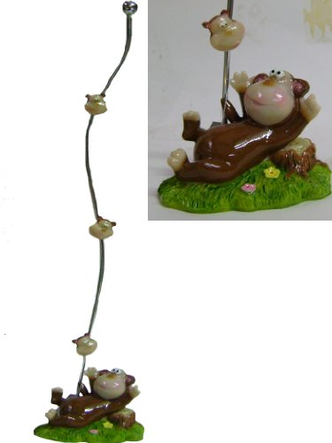 Card Monkey Holder (Lovely Monkey Triple Magnetic Photo Memo Cards Holder Stand)