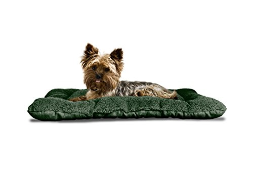 Furhaven Pet Reversible Terry and Suede Pet Tufted Pillow Do