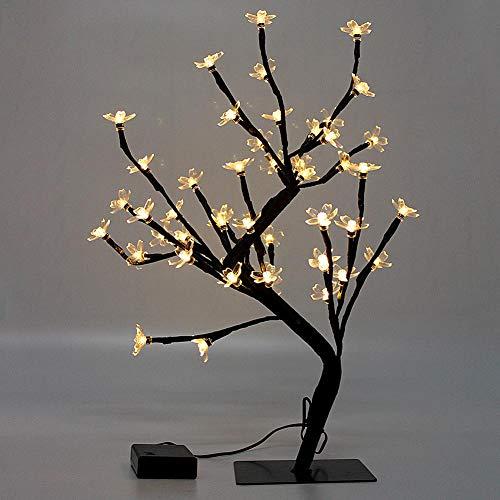 Luces artificiales para árbol de Navidad, luces de Navidad, funciona con pilas, pequeño árbol de Navidad con luces, 45 cm,...