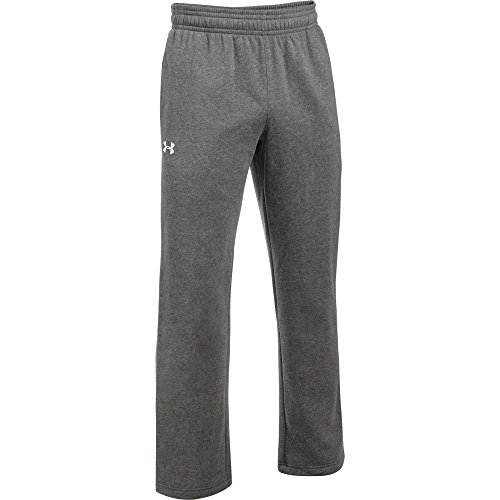 Under Armour Men's Hustle ColdGear Fleece Pant (Large, Carbon Heather)